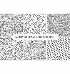 Collection of retro memphis seamless patterns vector