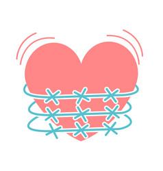 Concept of heartache vector