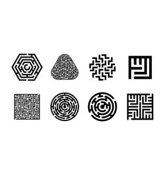 concept of labyrinth symbol vector image