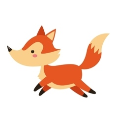 Cute fox cartoon icon vector