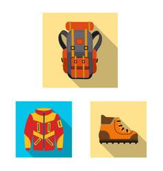 Design of mountaineering and peak logo vector