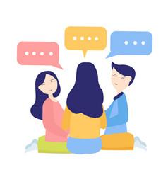 Discussion between friend or coworkers speak vector