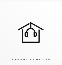 earphone house template vector image