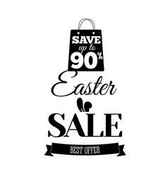 Easter sale offer vector