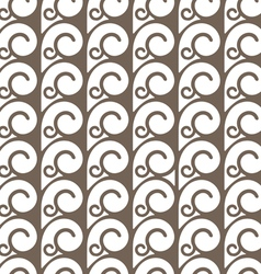 Elegant seamless pattern with swirls vector
