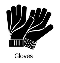 Gloves icon simple black style vector
