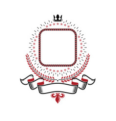 Graphic emblem made with imperial crown elegant vector