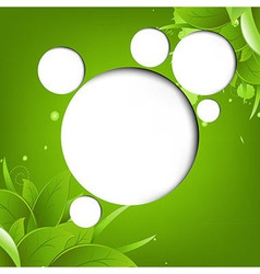 Green Eco Background With Web Speech Bubble vector image