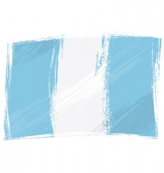 grunge Guatemala flag vector image vector image