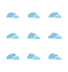 icon set clouds vector image