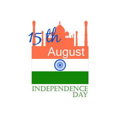 India independence day label vector