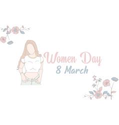 International womens day banner flat vector