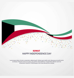 kuwait happy independence day background vector image