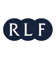 Letter rlf modern vector