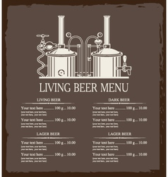 Living beer menu vector