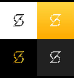 logo s linear logo of the letter s vector image