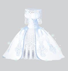 Luxurious bridesmaid dress isolated on grey vector