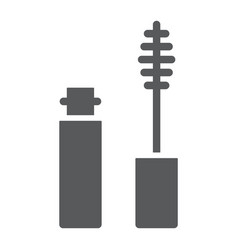 mascara brush glyph icon eyelash and cosmetic vector image