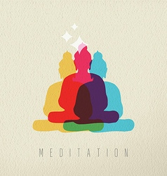 Meditation concept design of peace asian buddha vector