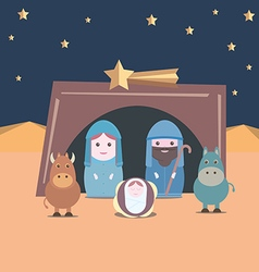 Nativity christian vector image