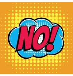 No comic book bubble text retro style vector image