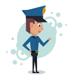 policeman cartoon design vector image