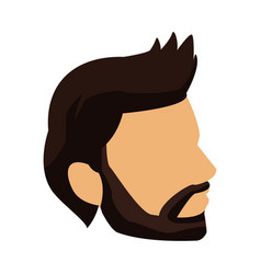 Profile young man head icon vector