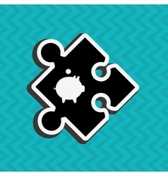 puzzle piece design vector image