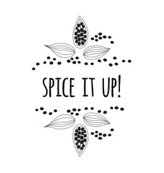 quote spice it up sketch style vector image