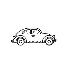 red car coloring page for kids beetle car vector image