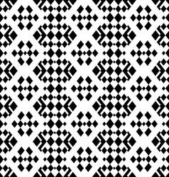 retro monochrome geometric seamless pattern vector image
