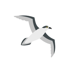 Sea gull icon in flat style vector