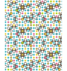 Seamless futuristic abstract pattern isolated on vector