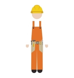Silhouette man worker with toolkit vector