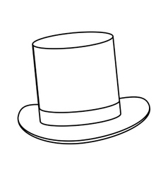 Simple black tophat vector