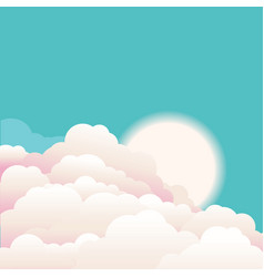 Sky with beautifull clouds and sunrise nature vector