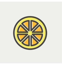 Sliced of lemon thin line icon vector image