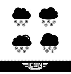 snow cloud icon vector image
