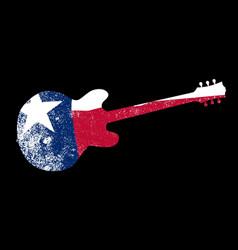 Texan patriot flag guitar vector
