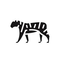 tiger icon vector image