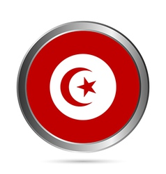 Tunisia flag button vector image