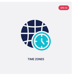 Two color time zones icon from airport terminal vector