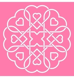 united hearts concept vector image