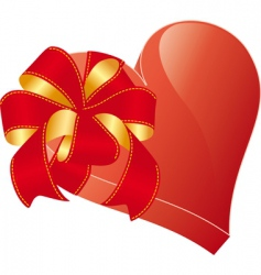 valentine heart with bow vector image