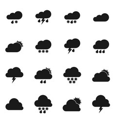 weather icons5 vector image