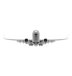 White clear passenger airplane take off isolated vector