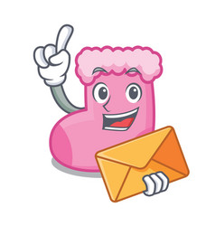 with envelope sock character cartoon style vector image