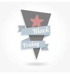 Black friday sale Graphics ribbon vector image