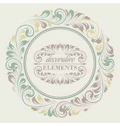 Floral frame with decorative elements vector image vector image