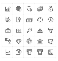 icon set - money and finance vector image vector image
